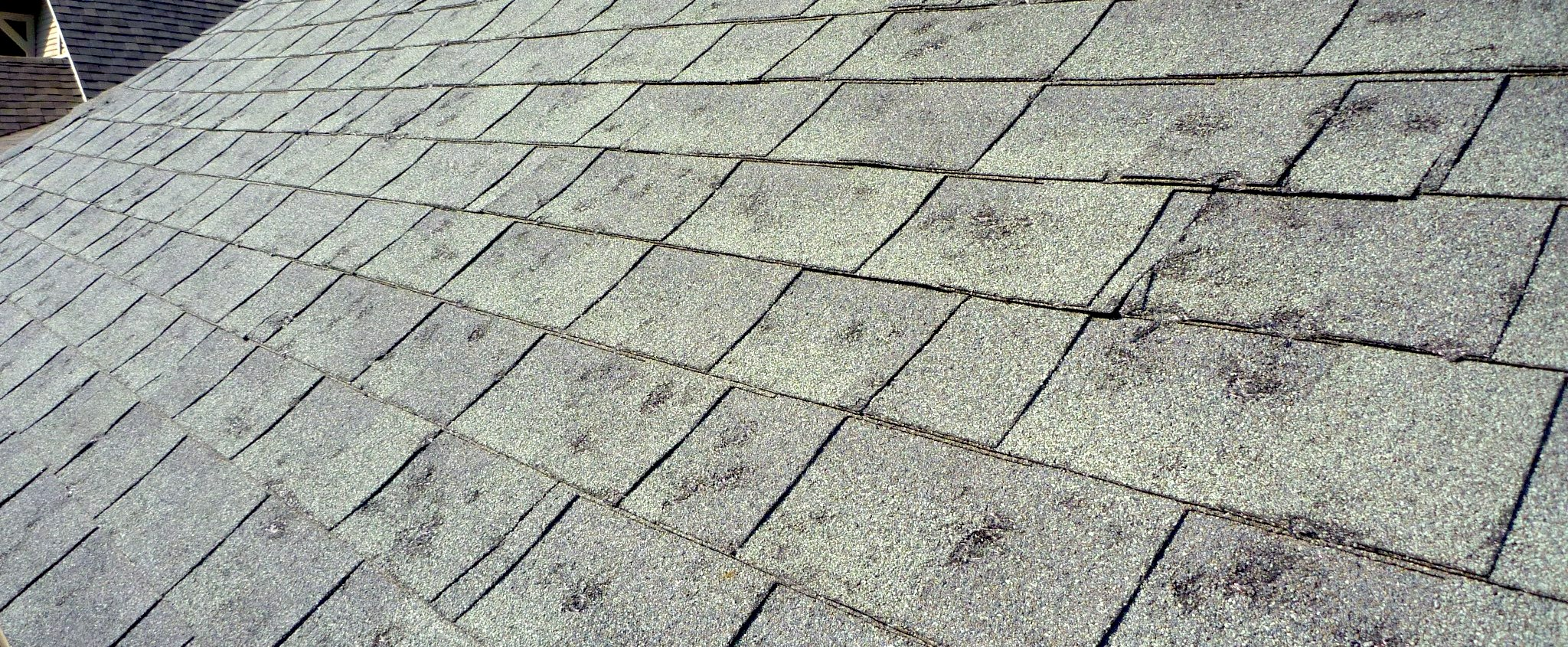 Asphalt Shingles damaged in Independence MO hail storm